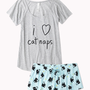 Cat Nap PJ Set Forever 21
