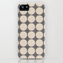 ecru and gray dots iPhone &amp; iPod Case by her art