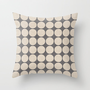 ecru and gray dots Throw Pillow by her art