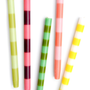 Colorful Striped 14&quot; Taper Candles | LEIF