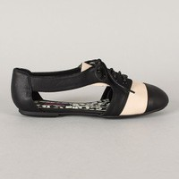 Karma Cut Out Lace Up Oxford Flat