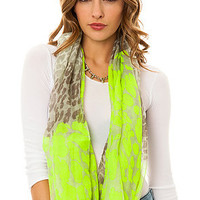 *MKL Accessories The Animal Print Infinity Scarf in Neon Green : Karmaloop.com - Global Concrete Culture