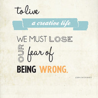 To live a Creative Life 8x10 print creative by twiggsdesigns