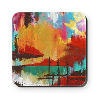 Fire in the Sky Square Coaster&gt; Coasters &amp; Tiles&gt; Janet Antepara Designs