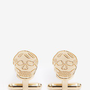 Alexander McQueen - Engraved skull cufflinks | Metallic   | Lane Crawford - Shop Designer Brands Online