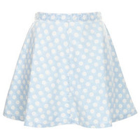 MOTO Bleach Spot Denim Skirt - Skirts