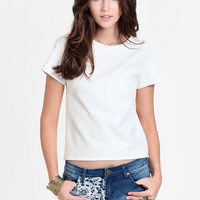 On Your Mark Faux Leather Top - $44.00 : ThreadSence, Women&#x27;s Indie &amp; Bohemian Clothing, Dresses, &amp; Accessories