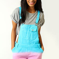 Esme Dip Dye Bright Denim Dungarees