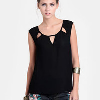 In the Shadows Cutout Blouse - $32.00 : ThreadSence, Women&#x27;s Indie &amp; Bohemian Clothing, Dresses, &amp; Accessories