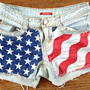 Patriotic American Flag Shorts