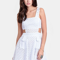 Swiss Lover Eyelet Cutout Dress - $65.00 : ThreadSence, Women&#x27;s Indie &amp; Bohemian Clothing, Dresses, &amp; Accessories