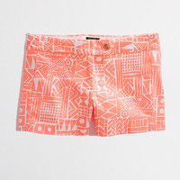 "Factory 3"" printed stretch chino short"