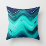 SEA TONES 2 Throw Pillow by catspaws