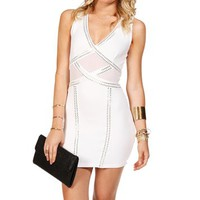 White Sleeveless Bodycon Dress