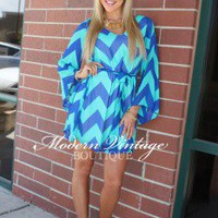 Maid Of Honor Turquoise and Royal Tie Dress