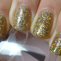 Golden Touch : Custom-Blended Nail Polish Glitter Nail Polish