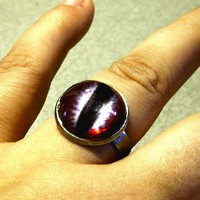 Dragon Eye ring color Imperial 18mm on Handmade Artists&#x27; Shop