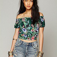 One Teaspoon   Hawaiian Crop Top at Free People Clothing Boutique
