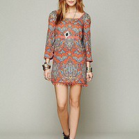 Free People  Printed Square Neck Tunic at Free People Clothing Boutique