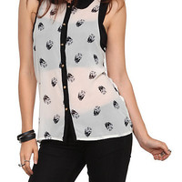 Skull Dot Top | Hot Topic
