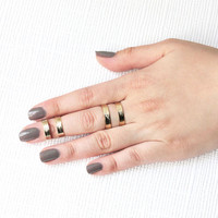 ROCKER Wonder Woman Cutout Gold Rings AMY O. Jewelry one size by Amy  O.