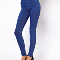 ASOS | ASOS Uber High Waist Denim Tube Pants in Mid Vintage Wash at ASOS