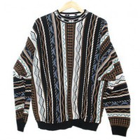 Tribal Aztec Stripe Cosby Style Tacky Ugly Sweater Men's Size XL $18 - The Ugly Sweater Shop