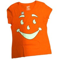 Walmart: Juniors Kool-Aid Big Face Short-Sleeve Tee, Orange