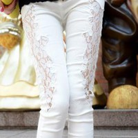 Hot Lace Patchwork Pant