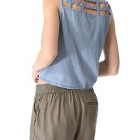 MINKPINK Toto Sleeveless Shirt | SHOPBOP