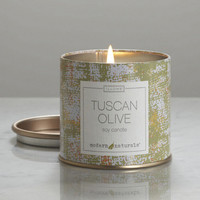NEW Illume Candle Tuscan Olive Paint Tin Candle