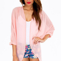 Sheer Genius Kimono $26