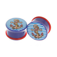 Morbid Metals Nautical Anchor Plug 2 Pack | Hot Topic