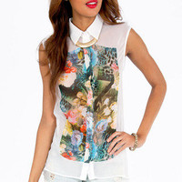 The Forest Flora Blouse $50