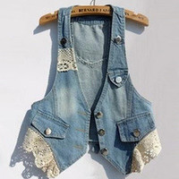 Temptation  your eyes — Cowboy short waistcoat lace vest small vest