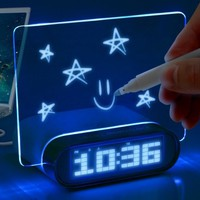 Glowing Memo Alarm Clock &amp; Temperature for Mice , Keyboards , Tablets , Smartphones , MP3 Players , Digital Cameras , External Hard Drives &amp;