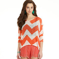 Moa Moa Chevron-Print Top