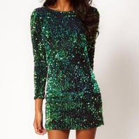 Temptation  your eyes — Bling green Dress