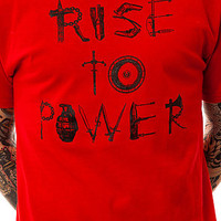 Acropolis Tee Rise to Power Crewneck in Red