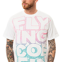 Flying Coffin The ReStack Tee in White and Pink to Blue Fade