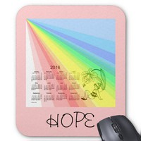 Rainbow of Hope 2016 Calendar Mouse Pad from Zazzle.com