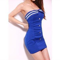 coolstyle — Cultivate one's morality show thin package hip strapless dress