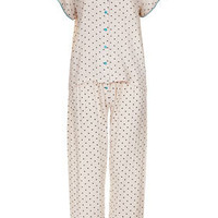 Polka Spot Pyjama Blouse and Trousers