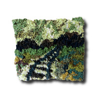 "3D Hand Hooked Art, Wall Hanging, Fiber Art, Rug Hooking, Hooked Rug, Home Office Decor, Textured Art, Textiles - ""Life's Journey"""