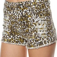 MINKPINK Leopard Slasher Shorts