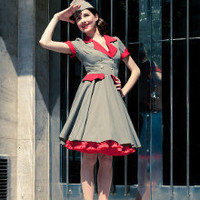 Rockabilly Military Dress by Ticci
