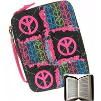Amazon.com: Peace Sign Ragged Patchwork Bible Cover Case (black): Clothing