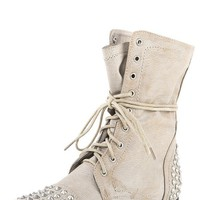 Breckelle's Georgia28 Ice Studded Lace Up Combat Boots and Shop Boots at MakeMeChic.com