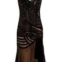 Alberta Ferretti | Beaded tulle and crepe midi dress | NET-A-PORTER.COM