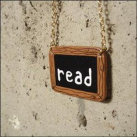 Read Mini Chalkboard Necklace by HesedBooksAndGifts on Etsy